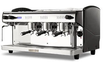 Commercial coffee machine under service