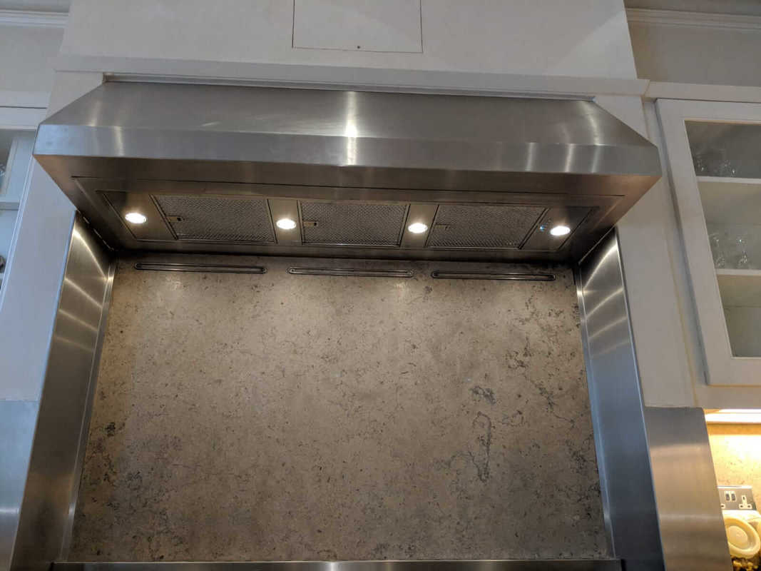Installation of built in kitchen extractor