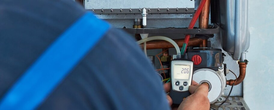 Gas boiler and central heating service check in London